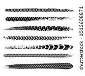motorcycle tire tracks vector... | Shutterstock .eps vector #1012608871