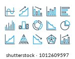 graph related line icons.... | Shutterstock .eps vector #1012609597