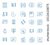 video icon thin line set... | Shutterstock .eps vector #1012610875