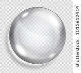 big translucent gray sphere... | Shutterstock .eps vector #1012612414