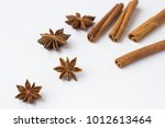spices  star anise and cinnamon ...   Shutterstock . vector #1012613464