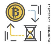 bitcoin icon vector... | Shutterstock .eps vector #1012613521