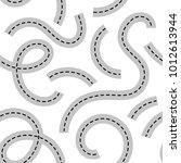 seamless pattern road for print ... | Shutterstock .eps vector #1012613944