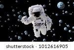 astronaut flying between... | Shutterstock . vector #1012616905