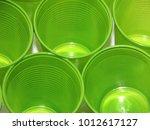 background green plastic glasses | Shutterstock . vector #1012617127