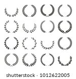 collection of different black... | Shutterstock .eps vector #1012622005
