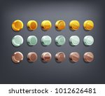 set of golden  silver and... | Shutterstock .eps vector #1012626481