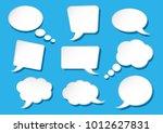 white speech bubbles collection ... | Shutterstock .eps vector #1012627831