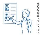 happy  smiling school boy ... | Shutterstock .eps vector #1012630801