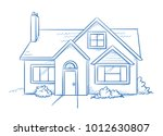blue colored detached  single... | Shutterstock .eps vector #1012630807