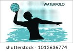 water polo. silhouette of... | Shutterstock .eps vector #1012636774