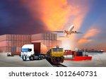 transportation  import export... | Shutterstock . vector #1012640731