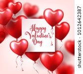 valentine's day abstract...   Shutterstock .eps vector #1012642387