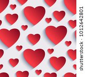 stylish valentines day... | Shutterstock . vector #1012642801