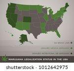 marijuana legalization status... | Shutterstock .eps vector #1012642975