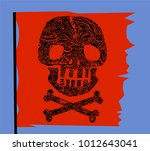 pirate symbol jolly rogers...   Shutterstock .eps vector #1012643041