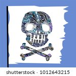pirate symbol jolly rogers...   Shutterstock .eps vector #1012643215