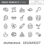 restaurant and cafe meals pixel ... | Shutterstock .eps vector #1012643227