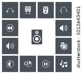 set of 13 editable sound icons. ...