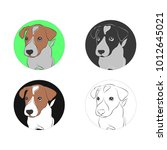 set of vector illustration.... | Shutterstock .eps vector #1012645021