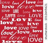 lettering design. love pattern... | Shutterstock .eps vector #1012645621
