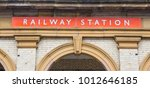historic traditional uk railway ... | Shutterstock . vector #1012646185