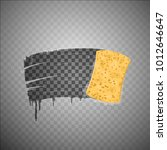 yellow sponge wiping glass.... | Shutterstock .eps vector #1012646647