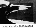 dark black grey paper... | Shutterstock . vector #1012648204