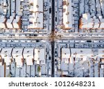 aerial view of snow covered... | Shutterstock . vector #1012648231