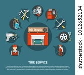 tire service tools for... | Shutterstock .eps vector #1012652134