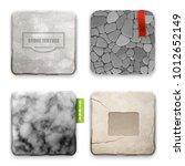 realistic 4 square stone... | Shutterstock .eps vector #1012652149