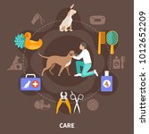 dogs round composition of... | Shutterstock .eps vector #1012652209