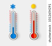 meteorology thermometers... | Shutterstock .eps vector #1012654291