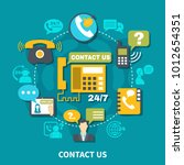 contact us round composition on ... | Shutterstock .eps vector #1012654351
