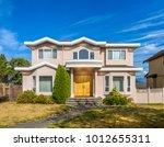 a perfect neighborhood. houses... | Shutterstock . vector #1012655311