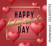 romantic banner with 'happy...   Shutterstock .eps vector #1012655701
