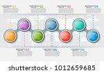 vector abstract 3d paper...   Shutterstock .eps vector #1012659685