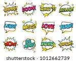retro colorful comic speech... | Shutterstock .eps vector #1012662739
