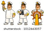 cartoon sailors. a set of... | Shutterstock .eps vector #1012663057