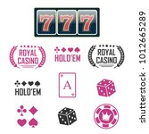 casino vector sign set. slot... | Shutterstock .eps vector #1012665289