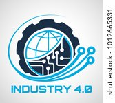 industry 4.0 concept business... | Shutterstock .eps vector #1012665331