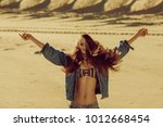 waist up portrait of young... | Shutterstock . vector #1012668454