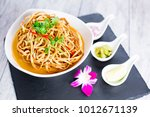 kao soi or thai curry noodles... | Shutterstock . vector #1012671139