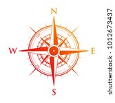 orange and red compass | Shutterstock .eps vector #1012673437