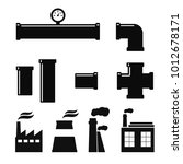 pipe fittings vector icons set. ... | Shutterstock .eps vector #1012678171