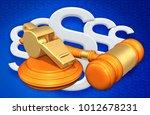 whistle blower legal concept 3d ... | Shutterstock . vector #1012678231