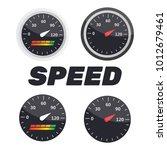 guage icon. credit score...   Shutterstock .eps vector #1012679461