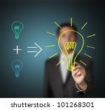 business man writing concept  ... | Shutterstock . vector #101268301