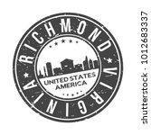 richmond virginia usa stamp... | Shutterstock .eps vector #1012683337