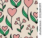 spring pastel seamless pattern...   Shutterstock .eps vector #1012684399